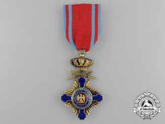An Order of the Star of Romania, Knight with Crossed Swords