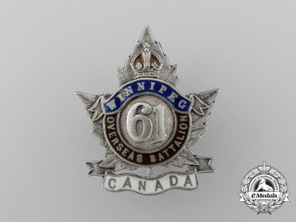 A First War 61st Infantry Canadian Battalion Sweetheart Badge