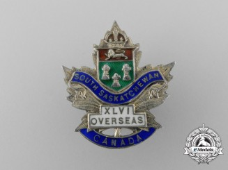 A First War 46th Infantry Canadian Battalion Sweetheart Badge