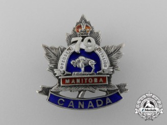 A First War 79th Infantry Canadian Battalion Sweetheart Badge