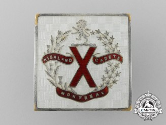 A Montreal Highland Cadet Battalion Corps Sweetheart Badge