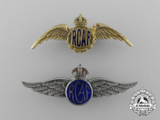 Two Second War Royal Canadian Air Force (RCAF) Sweetheart Badges