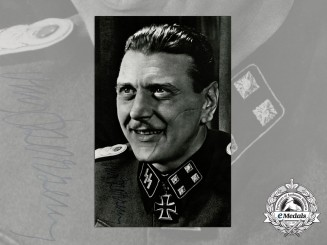 "A Large Signed Photograph of  ""The Most Dangerous Man in Europe"""