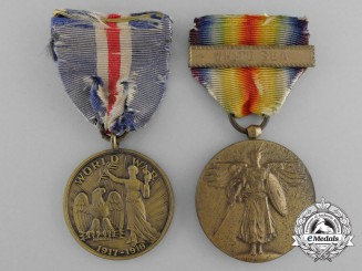 Two First War American Service Medals