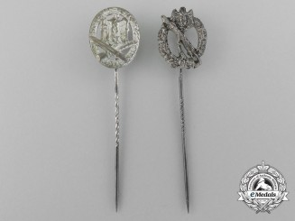 Two Wehrmacht Miniature Awards