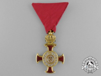 An Austrian Golden Cross of Merit with Crown by Braun of Vienna