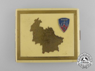 A Cigarette Case Made During the Nuremberg War Crimes Trial for American Officer