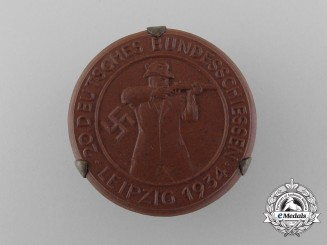 A 1934 Leipzig 20th Shooting Competition Event Badge