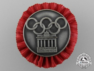 A 1936 Berlin Olympics Participation Badge for the Encampment of the German Fachämpter