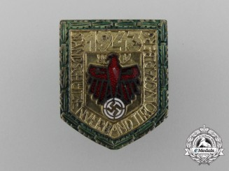 A Rare 1943 Participation Badge for the Tirol and Vorarlberg Marksman Association by Alois Klammer