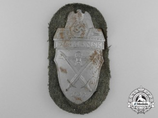 An Army Issued Demjansk Campaign Shield