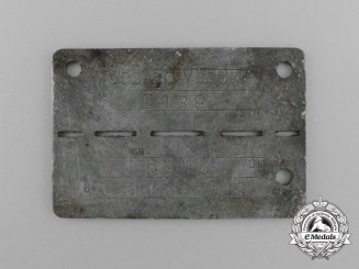 A German POW Camp ID Tag for Allied Aviators Housed at the Stalag VIII-B Camp