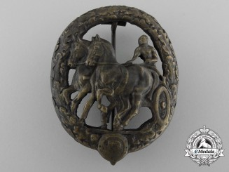 A German Horse Driver's Badge; Bronze Grade