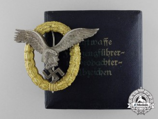 An Early Cased Combined Pilot's & Observers Badge by Friedrich Linden Lüdenscheid