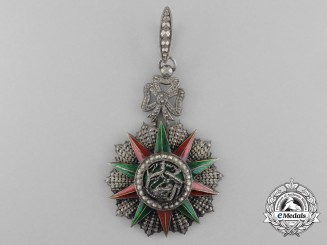 A Tunisian Order of Glory (Order of Nichan Iftikhar); Commander's Neck Badge, c. 1906-1922