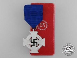 A German 25-Year Faithful Service Decoration; Second Class by R. Souval
