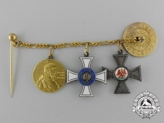 A Prussian Crown & Red Eagle Miniature Group by Godet