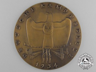 A 1934 German Sports Competition Participant's Plaque by O. Glöckler