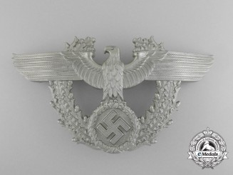 A Near Mint German Police Enlisted Man's Shako Plate