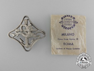 An Italian Royal Navy Torpedo Ship War Navigation Badge; Second Class in Packet of Issue