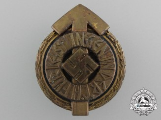 A Golden HJ Leader's Sports Badge by Gustav Brehmer