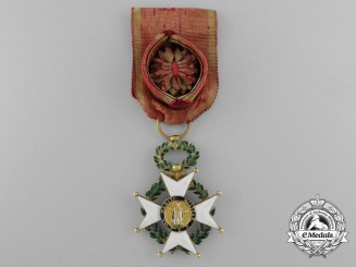 A Spanish Isabell II Period Order of San Fernando; Officer Grade in Gold