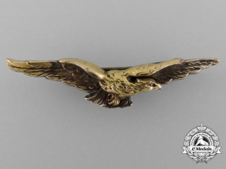 A First War French Pilot's Eagle Badge by Fix