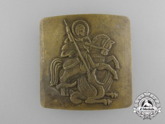 A Russian Imperial Saint George Belt Buckle