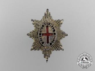 An Life Guards Officer`s Sterling Silver Collar Badge
