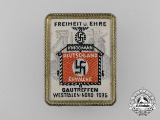 """A 1936 Westfalen District Meeting """"Freedom and Honour"""" Badge"""