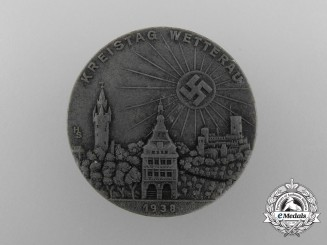 """A 1935 District Genthin """"Game and Sportfest"""" Badge"""