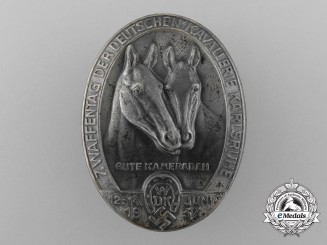 A 1937 Karlsruhe Waffentag of the German Cavalry Celebration Badge