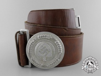 A Reich Labour Service Officer's Belt with Buckle