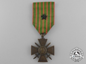 A First War French War Cross 1914-1918 with Rare Silver Star