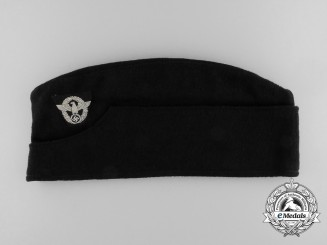 A German Fire Police Enlisted Man's Side Cap