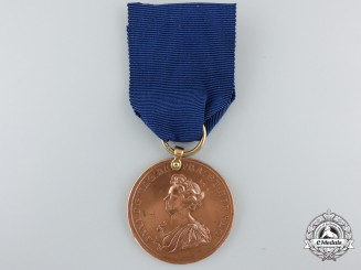 A 1704 Medal Commemorating the Capture of Gibraltar and Action off Malaga