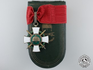 An Order of the Holy Crown of Hungary; Commander Cross with Swords and War Decoration