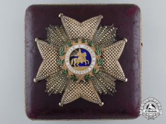 A Spanish St. Hermengildo Order by E. Castells of Barcelona; Grand Cross Breast Star with Case