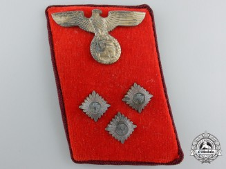 An NSDAP District (Gau) Level EinsatzLeiter (Action Leader) Collar Tab