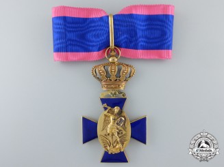 A Bavarian Royal Merit Order of St. Michael; Cross Second Class in Gold c.1880