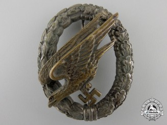 An Early Luftwaffe Paratrooper Badge by W. Deumer