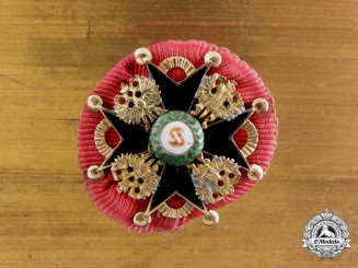 A Miniature Russian Imperial Order of St. Stanislaus in Gold