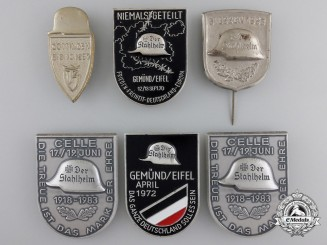 Six Stahlhelm Badges