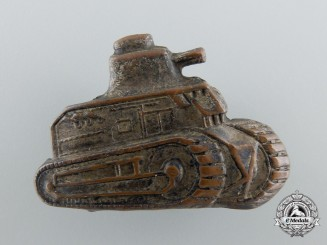An Extremely Rare Croatian Collar Tab Insignia for Armored/Tank Crew