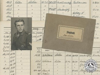 A Luftwaffe Air Gunner's Flugbuch and Photo; Participated in Norway Invasion