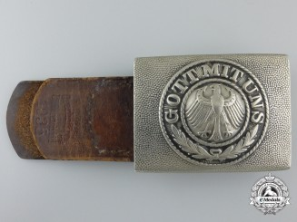 A Weimar Republic Era Army Belt Buckle by Overhoff & Cie