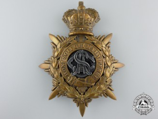 A Victorian Army Service Corps Officer's Helmet Plate