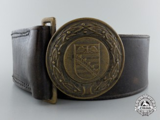 A Province of Saxony Fire Department Officer's Belt with Buckle