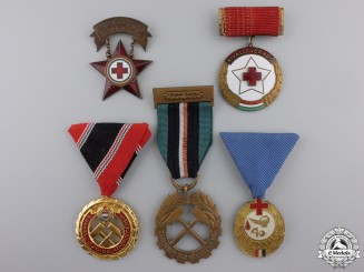 Five Republic of Hungarian Medals & Awards