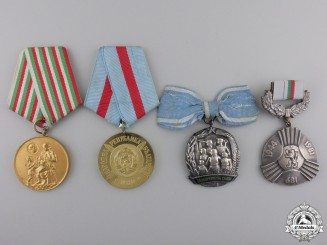 Four Bulgarian Medals and Awards